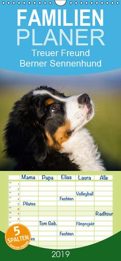 Treuer Freund Berner Sennenhund – Familienplaner hoch (Wandkalender 2019 , 21 cm x 45 cm, hoch) von Starick,  Sigrid