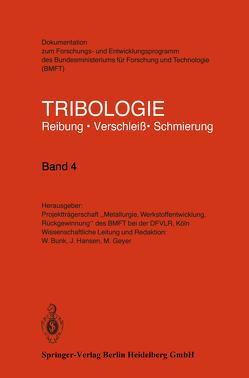 Tribologie von Bunk,  W., Geyer,  M., Hansen,  J.