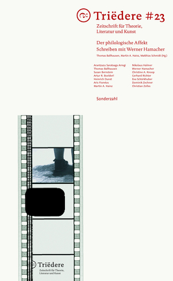 Triëdere #23: Der philologische Affekt von Ballhausen,  Thomas, Hainz,  Martin A., Schmidt,  Matthias