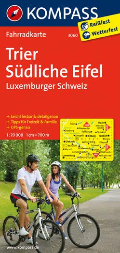 KOMPASS Fahrradkarte Trier – Südliche Eifel – Luxemburger Schweiz von KOMPASS-Karten GmbH