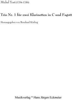 Trio Nr. 1 für zwei Klarinetten und Fagott von Kösling,  Bernhard, Yost,  Michel