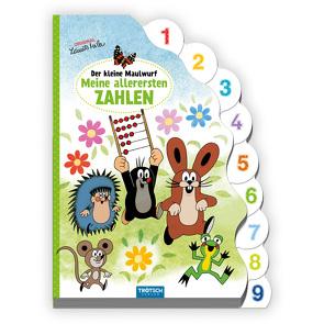 Trötsch Der kleine Maulwurf Pappbilderbuch mit Register Meine allerersten Zahlen von Trötsch Verlag