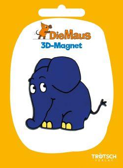 Trötsch Die Maus 3D-Magnet Elefant stehend
