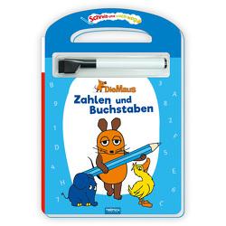 Trötsch Die Maus Schreib und wisch weg Pappenbuch Zahlen und Buchstaben von Trötsch Verlag