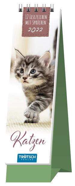 Trötsch Lesezeichenkalender Katzen 2022