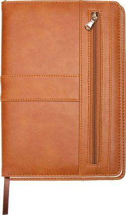 Trötsch Notizbuch mit Reißverschluss Braun