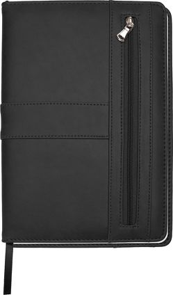 Trötsch Notizbuch mit Reißverschluss Schwarz