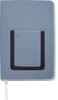 Trötsch Notizbuch mit Tasche Grau