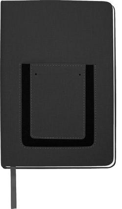 Trötsch Notizbuch mit Tasche Schwarz