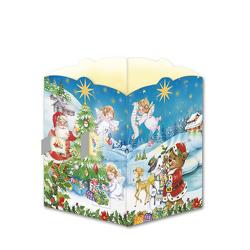 Trötsch Postkarte zum Aufstellen Windlicht-Adventskalender Nostalgisch von Trötsch Verlag GmbH & Co. KG