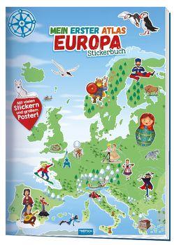 Trötsch Stickerbuch Mein 1. Atlas Europa