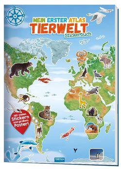 Trötsch Stickerbuch Mein 1. Atlas Tierwelt