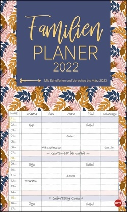 Tropical Leaves Familienplaner XL Kalender 2022 von Heye