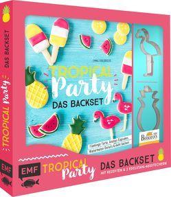 Tropical Party – das Backset mit Rezepten und Ananas- und Flamingo-Ausstecher aus Edelstahl von Friedrichs,  Emma