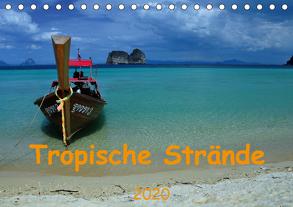 Tropische Strände (Tischkalender 2020 DIN A5 quer) von Lindner,  Ulrike