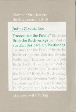 Trustees for the Public? von Joos,  Judith C