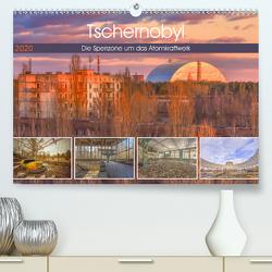 Tschernobyl – Die Sperrzone um das Atomkraftwerk (Premium, hochwertiger DIN A2 Wandkalender 2020, Kunstdruck in Hochglanz) von Hackstein,  Bettina