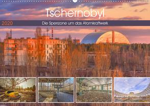 Tschernobyl – Die Sperrzone um das Atomkraftwerk (Wandkalender 2020 DIN A2 quer) von Hackstein,  Bettina