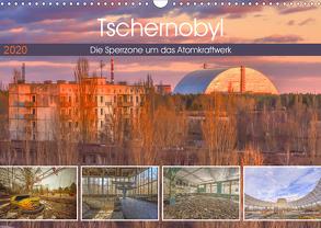 Tschernobyl – Die Sperrzone um das Atomkraftwerk (Wandkalender 2020 DIN A3 quer) von Hackstein,  Bettina