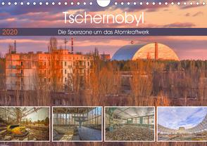 Tschernobyl – Die Sperrzone um das Atomkraftwerk (Wandkalender 2020 DIN A4 quer) von Hackstein,  Bettina