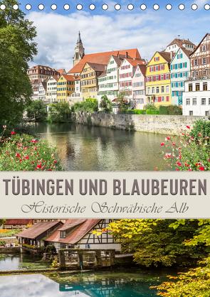 TÜBINGEN UND BLAUBEUREN Historische Schwäbische Alb (Tischkalender 2020 DIN A5 hoch) von Viola,  Melanie