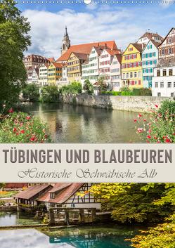 TÜBINGEN UND BLAUBEUREN Historische Schwäbische Alb (Wandkalender 2021 DIN A2 hoch) von Viola,  Melanie
