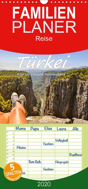 Türkei – Köprülü Canyon Nationalpark – Familienplaner hoch (Wandkalender 2020 , 21 cm x 45 cm, hoch) von Hackstein,  Bettina
