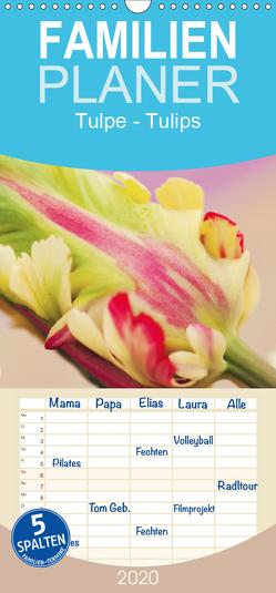 Tulpe – Familienplaner hoch (Wandkalender 2020 , 21 cm x 45 cm, hoch) von JUSTART