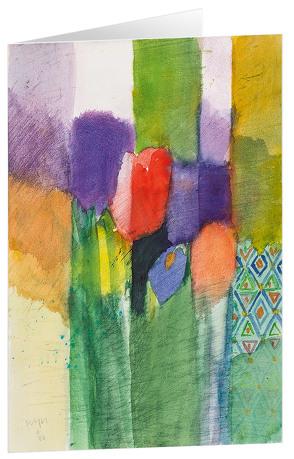 Tulpen 2 – Kunst-Faltkarten ohne Text (5 Stück) von Felger,  Andreas