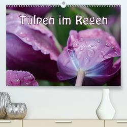 Tulpen im Regen (Premium, hochwertiger DIN A2 Wandkalender 2021, Kunstdruck in Hochglanz) von GUGIGEI