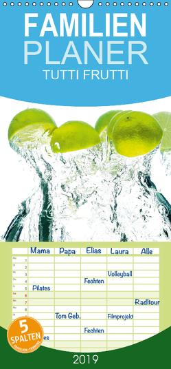Tutti Frutti Küchenkalender – Familienplaner hoch (Wandkalender 2019 , 21 cm x 45 cm, hoch) von W. Lambrecht,  Markus