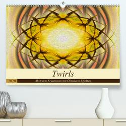 Twirls – Abstrakte Kreationen mit Ölmalerei-Effekten (Premium, hochwertiger DIN A2 Wandkalender 2020, Kunstdruck in Hochglanz) von Di Chito,  Ursula