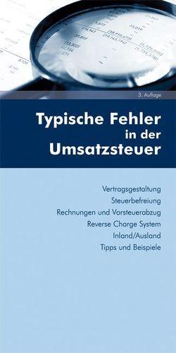 Typische Fehler in der Umsatzsteuer von Gaedke,  Gerhard, Weinzierl,  Christine