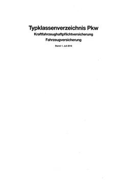 Typklassenverzeichnis Pkw 2018 von GDV Dienstleistungs GmbH