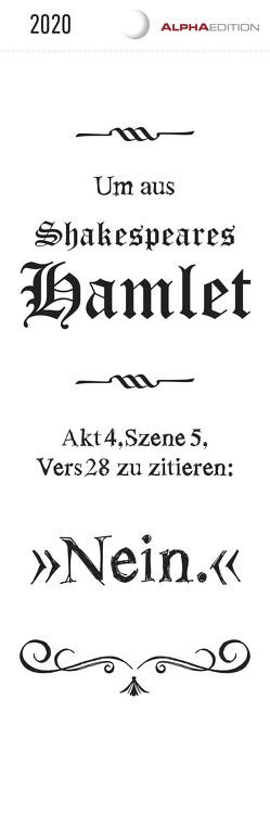 Typo 2020 – Lesezeichenkalender (5,5 x 16,5) – Sprüchekalender – schwarz-weiß – Gadget – Lesehilfe – Geschenkidee von ALPHA EDITION