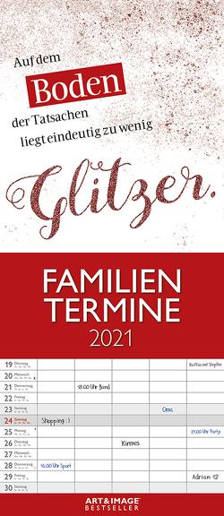 Typo Art 2021 A&I Familienplaner – Familienkalender – Wandkalender – 19,5×45