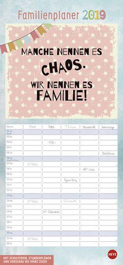 Typo Familienplaner – Kalender 2019 von Heye