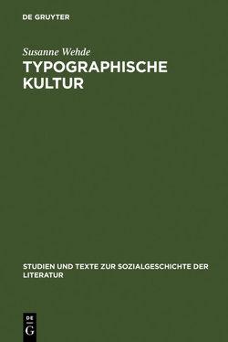 Typographische Kultur von Wehde,  Susanne