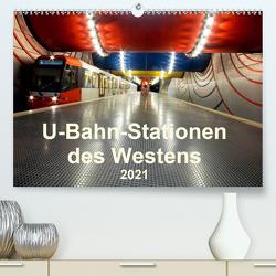 U-Bahn-Stationen des Westens (Premium, hochwertiger DIN A2 Wandkalender 2021, Kunstdruck in Hochglanz) von Brix,  Karsten