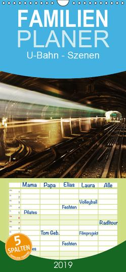 U-Bahn – Szenen an U-Bahnstationen in Europa und New York – Familienplaner hoch (Wandkalender 2019 , 21 cm x 45 cm, hoch) von Müller,  Christian