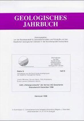 """UAG """"Hintergrundwerte"""" der Ad-hoc-AG Geochemie. Statusbericht Dezember 1996 von Hindel,  Roland, Mederer,  Joseph, Rosenberg,  Fred"""