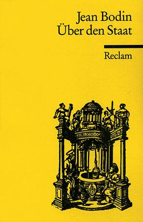 Über den Staat von Bodin,  Jean