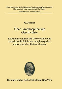 Über lymphoepitheliale Geschwülste von Döhnert,  G.