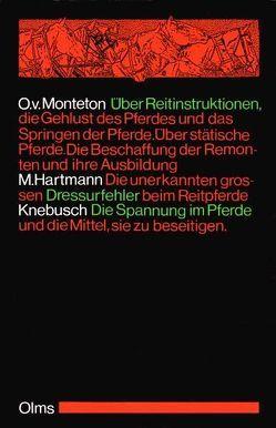 Über Reitinstruktionen, die Gehlust des Pferdes und das Springen der Pferde von Monteton,  Otto von