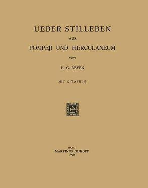 Uber Stilleben aus Pompeji und Herculaneum von Beyen,  Hendrik Gerard
