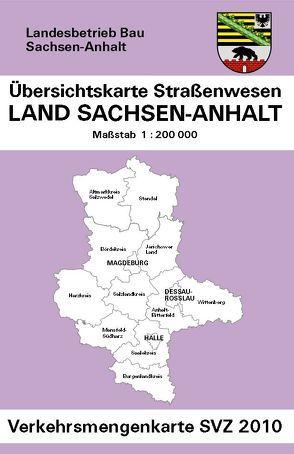 Übersichtskarte Straßenwesen, Land Sachsen-Anhalt, Verkehrsmengenkarte von Kartoprodukt GmbH