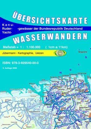 Übersichtskarte Wasserwandern von Jübermann,  Erhard