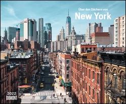 Über den Dächern von New York 2022 – Städte-Reise-Kalender – Querformat 58,4 x 48,5 cm – Spiralbindung