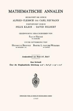 Über die Diophantische Gleichung ax4+bx2y2+cy4=ez2 von Reichardt,  Hans