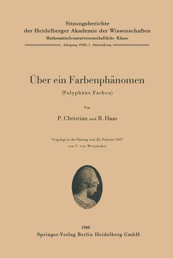 Über ein Farbenphänomen von Christian,  P, Haas,  R.